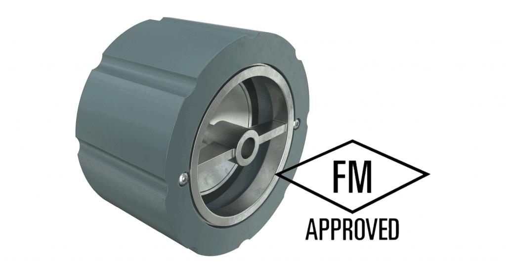 FM approved wafer silent check valve