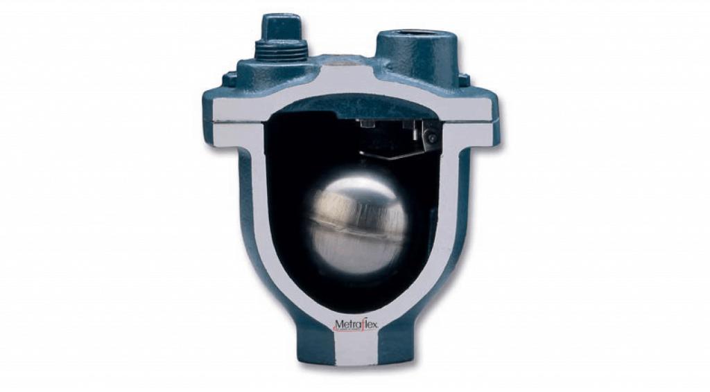 Metravent Air vent release valve cutaway